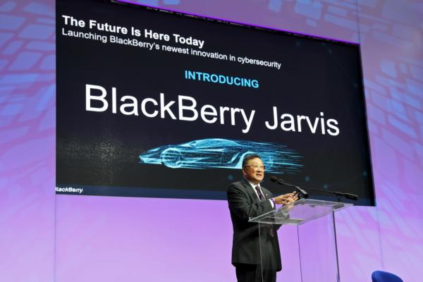 John Chen, BlackBerry CEO at the Detroit Auto Show