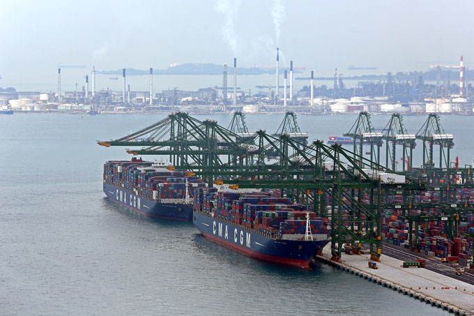 CMA CGM has doubled the size of its terminal area in Singapore