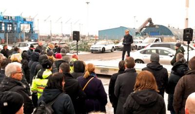 Magnus Kårestedt speaking at the official opening