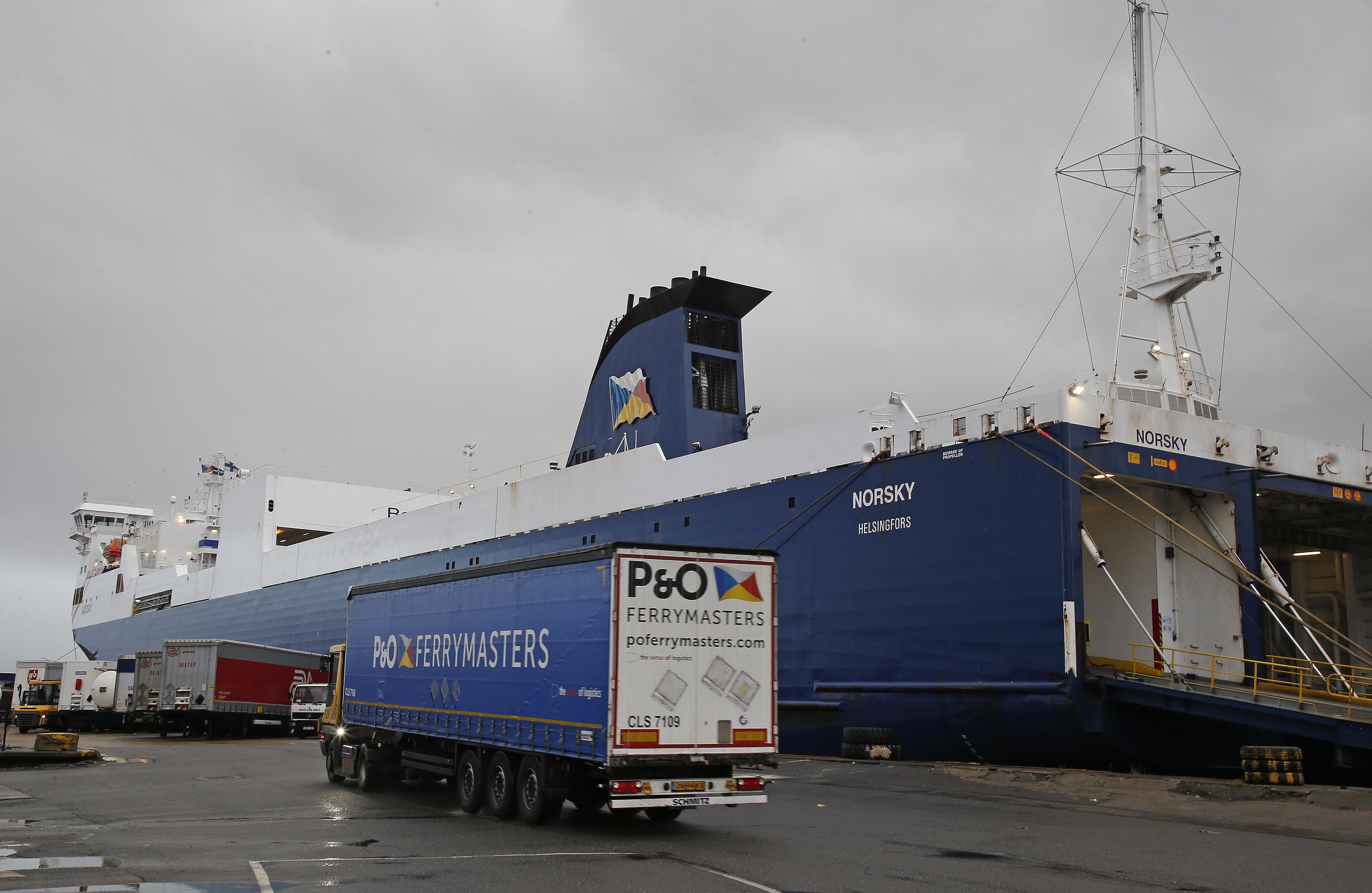 Tilbury, the P&O Ferries terminal today