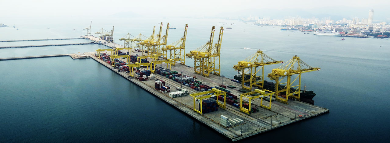 The ban will affect Tanjung Pelepas, Klang and Penang (pictured)