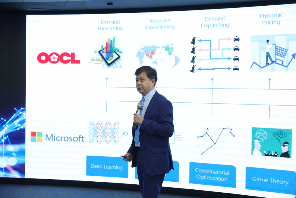 AI tools could be brought into OOCL's strategic diection