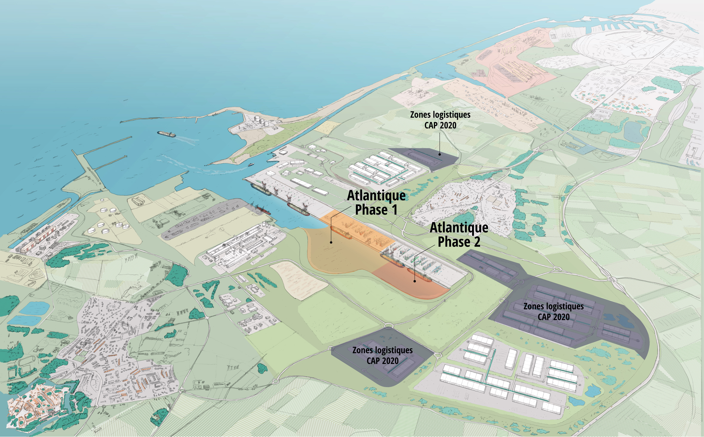 Schematic of the ambitious Dunkerque-Port CAP 2020 project