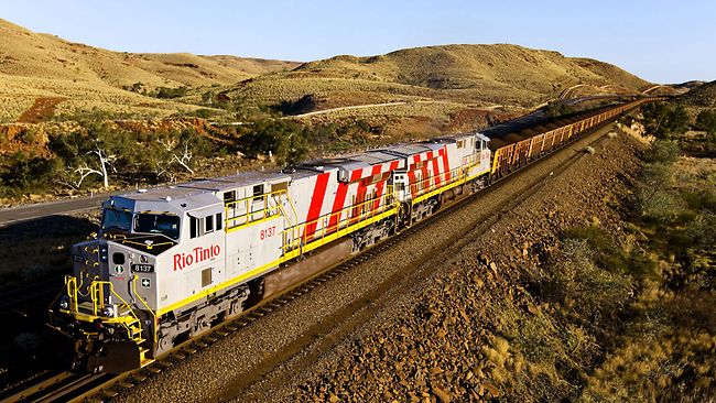 Rio operates about 200 locomotives in the Pilbara