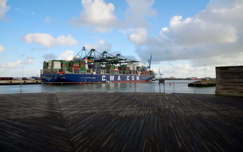CMA CGM into Zeebrugge
