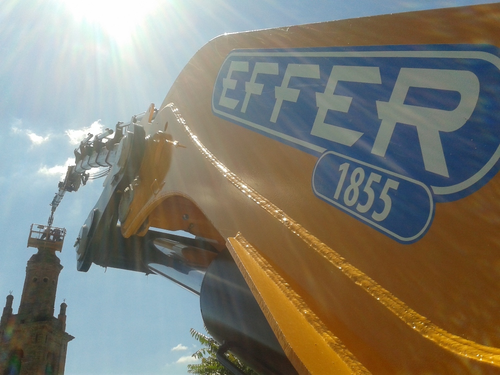 Effer is renowned in the heavy lift truck-mounted crane sector