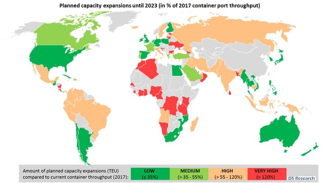 Planned Capacity Expansions until 2023 (source DS Research)