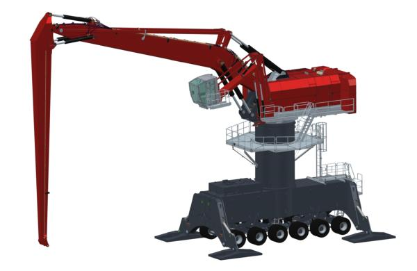 First rubber-tyred Mantsinen 300 Hybrilift crane