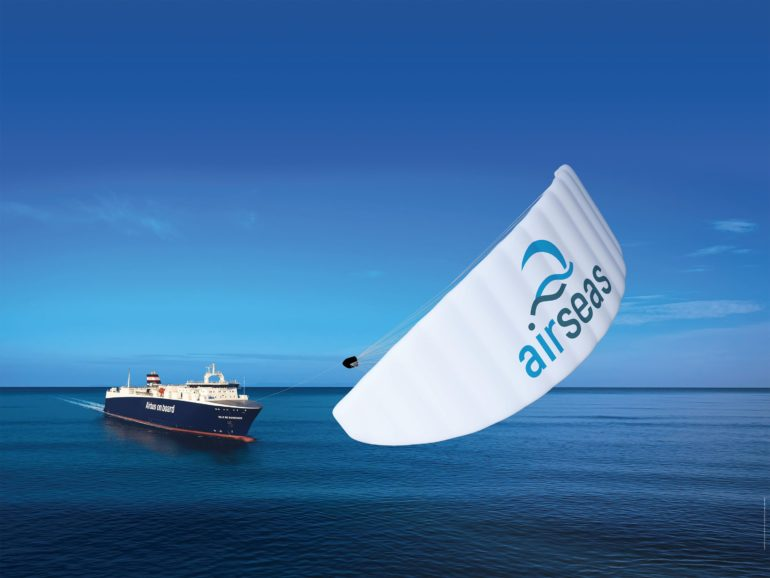 SeaWing is claimed to be the first automated kite sail for commercial shipping