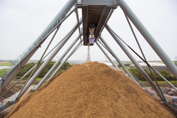 Bulk biomass handling at Skærbæk power plant