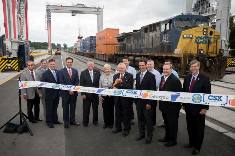 The official opening of Appalachian Regional Port