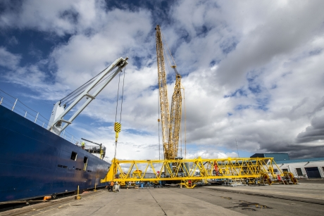 The new crane should be in service by late October