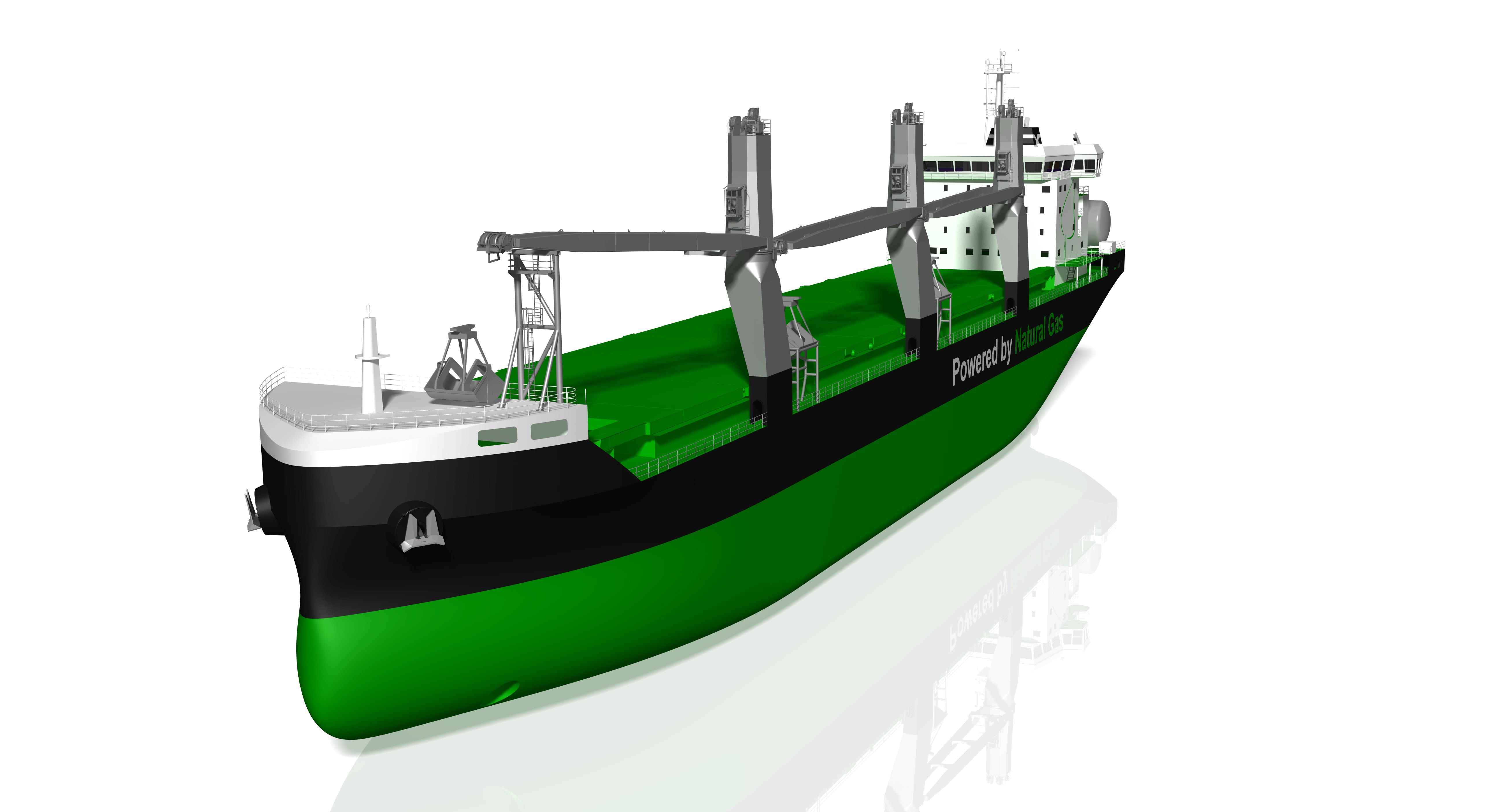 The cranes will be fitted on board two new LNG-powered Handysize bulkers