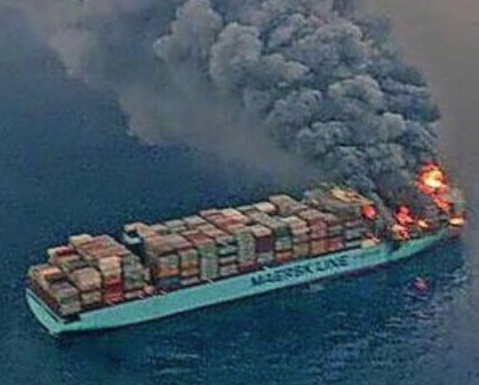 The MAERSK HONAN fire in March