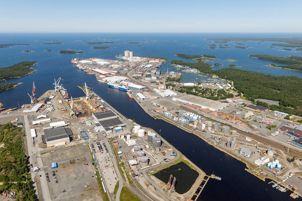 The Port of Rauma, where Mantsinen is leasing premises for a new assembly plant