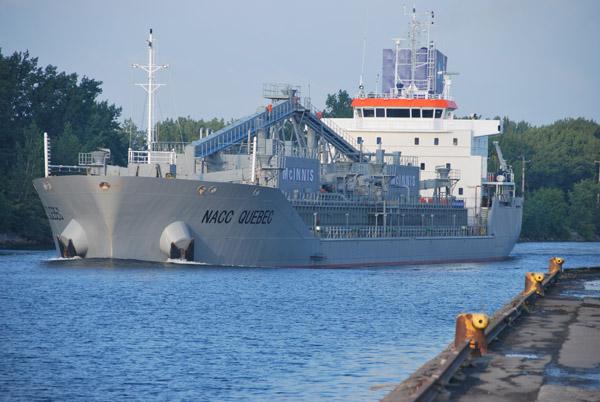 The 14,600 dwt NACC QUEBEC will serve McInnis's Oshawa terminal via the St Lawrence Seaway