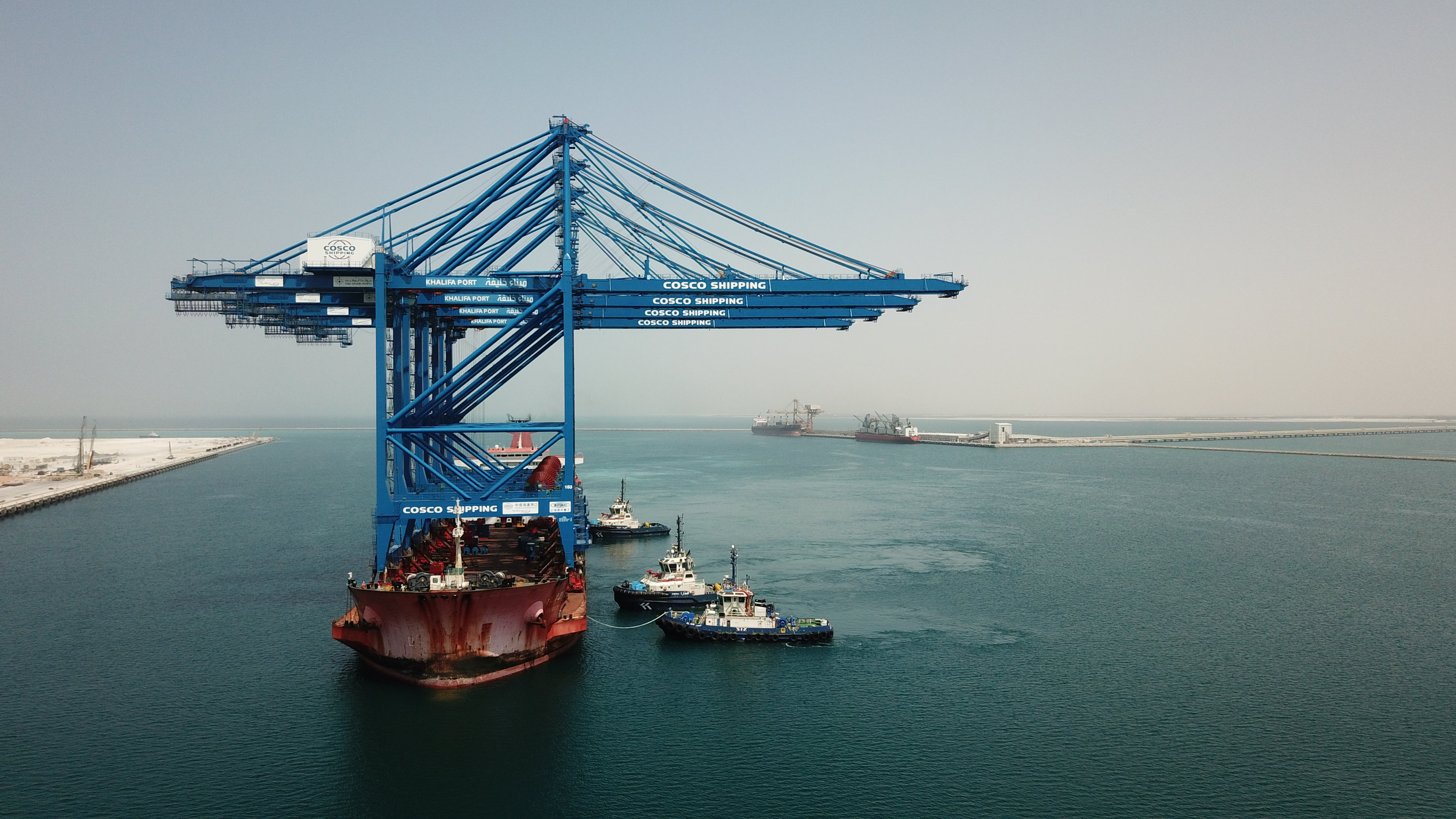 Less than a year after construction began, the first cranes have arrived