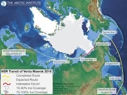 The expected sea route. (Arctic Today, copyright Malte Humpert)