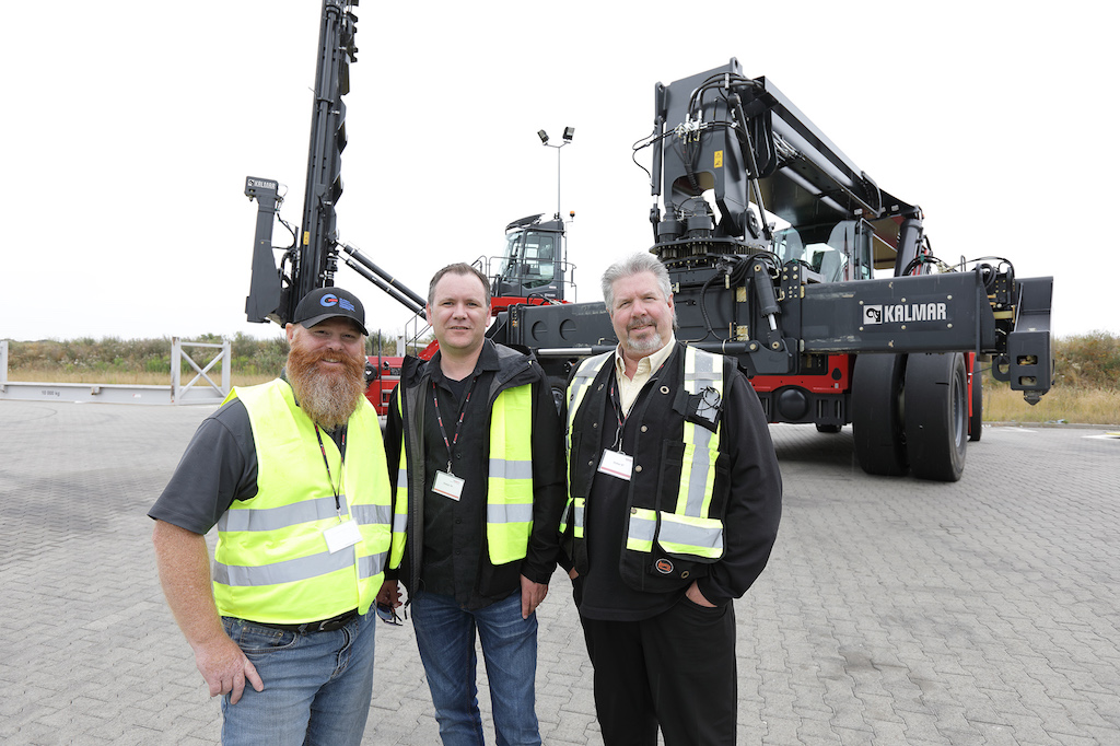From left to right, GCT employees Iain Higginson, Kevin Hudson and Dale Shimell
