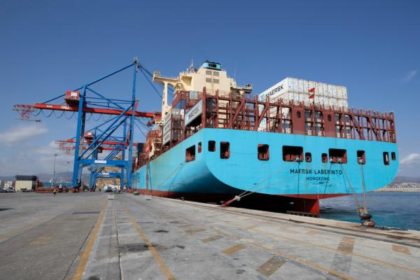 The Maersk Laberinto called on the carrier's Bossanova service