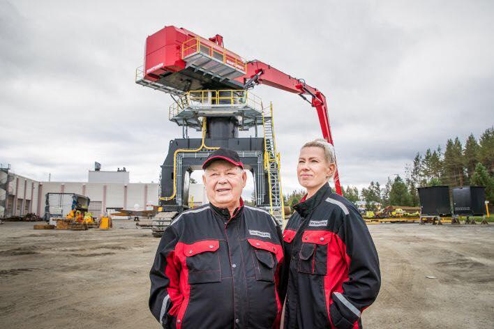 Veli Mantsinen and Mia Mantsinen (photo: Karjalainen)