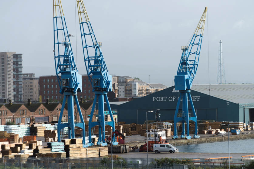 Timber operations at the North Side of Queen Alexandra Dock