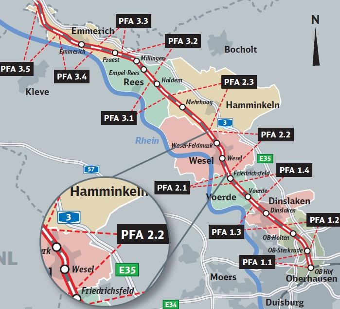 The route of the third track in Germany