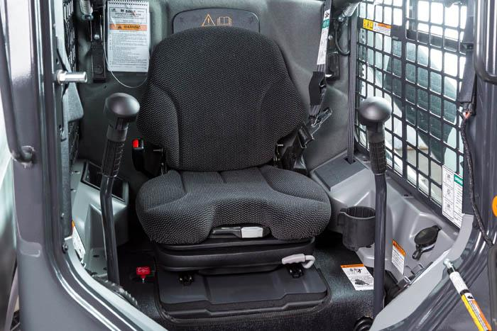 Heated Cloth Air Ride Seat is available at a factory option and kit