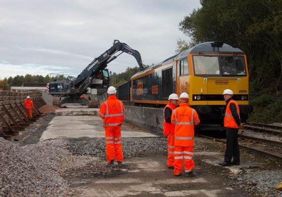 Aggregates roll as UK rail link restored