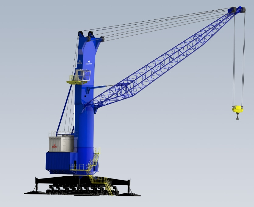 GENMA's third-generation mobile harbour crane