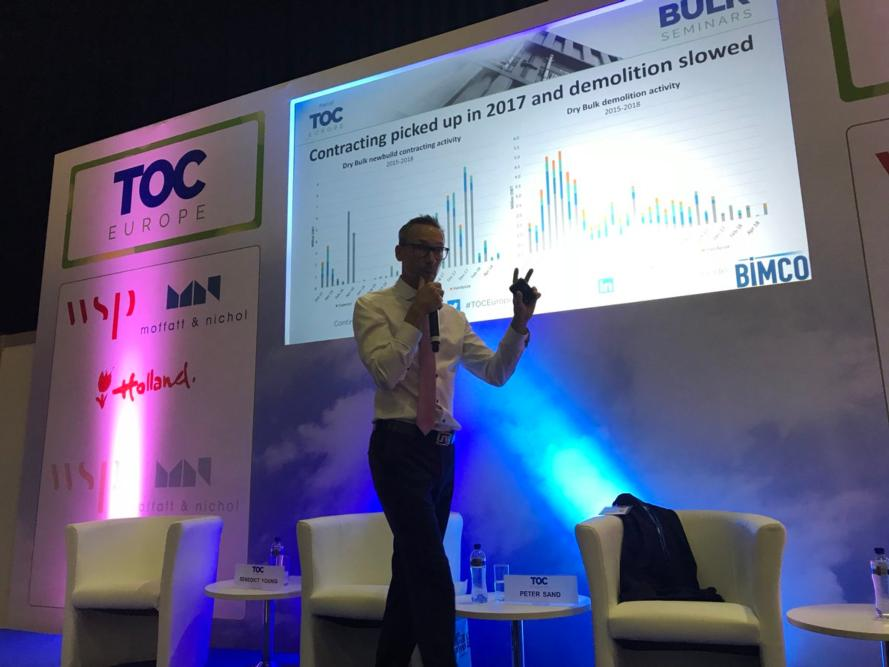 BIMCO's Peter Sand speaking at TOC Europe 2018