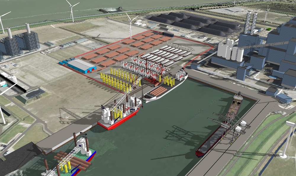 Projection of the new Bow Eemshaven Terminal