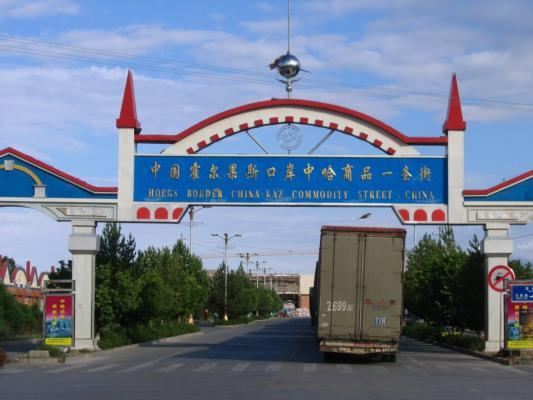 The Khorgos road border crossing was opened earlier this year
