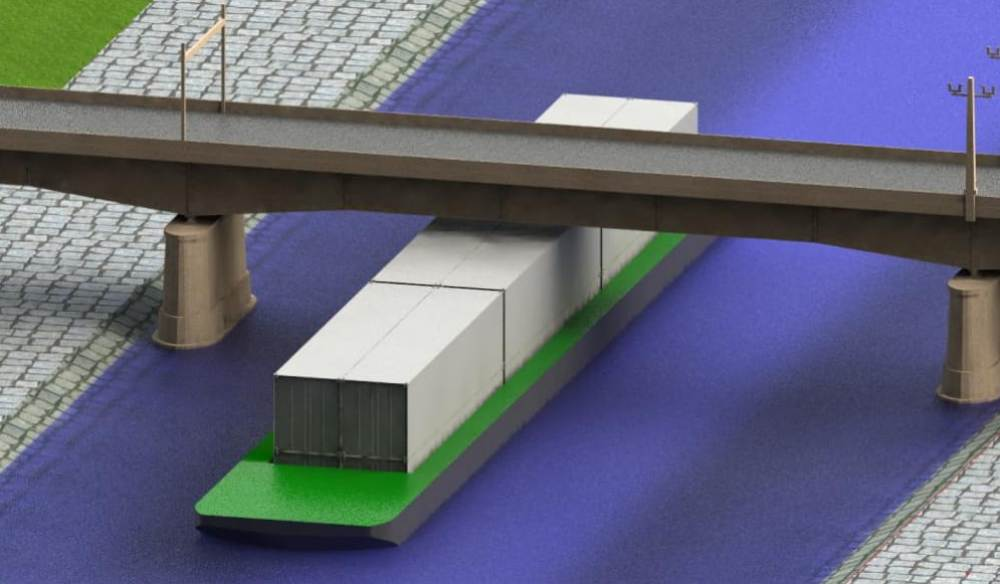One-high to ensure bridge height clearance throughout the Ruhr