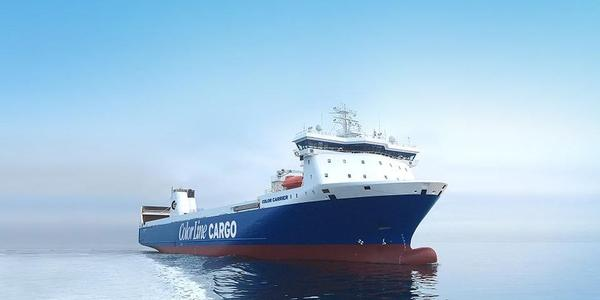 The COLOR CARRIER has the capacity for 360,000 freight units/year on the Oslo-Kiel route