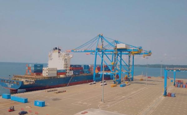 The first berth at Kribi container terminal