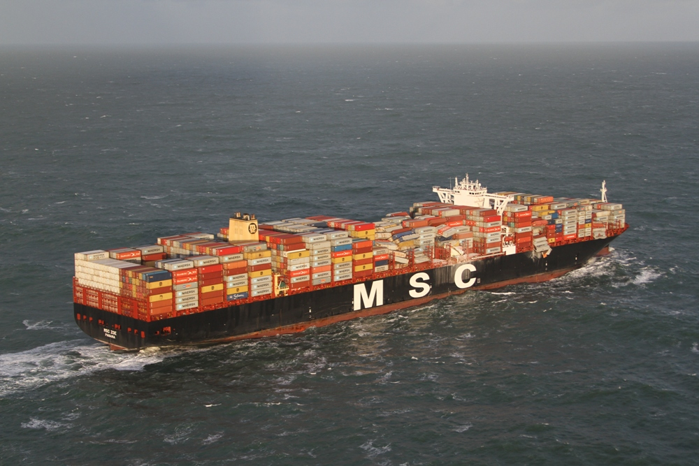 Three of the lost containers were shipments of hazardous cargoes