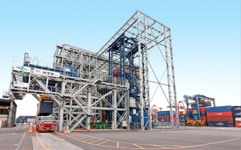The NYK Container Hangar in Japan