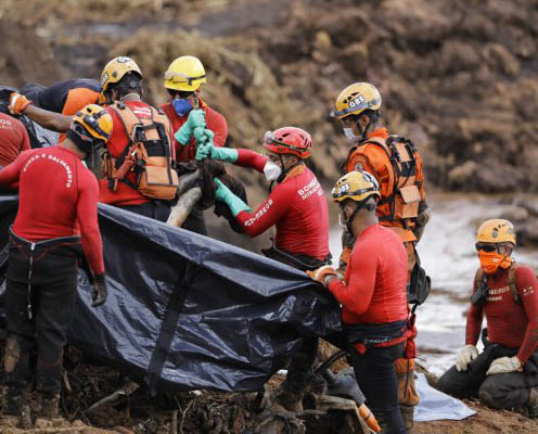 More than 300 lives are thought lost at Brumadinho
