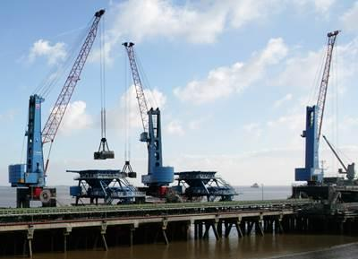 Konecranes Gottwald books rail- and pontoon-mounted cranes