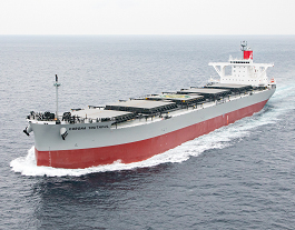 Coal carrier tests binary cycle power generation