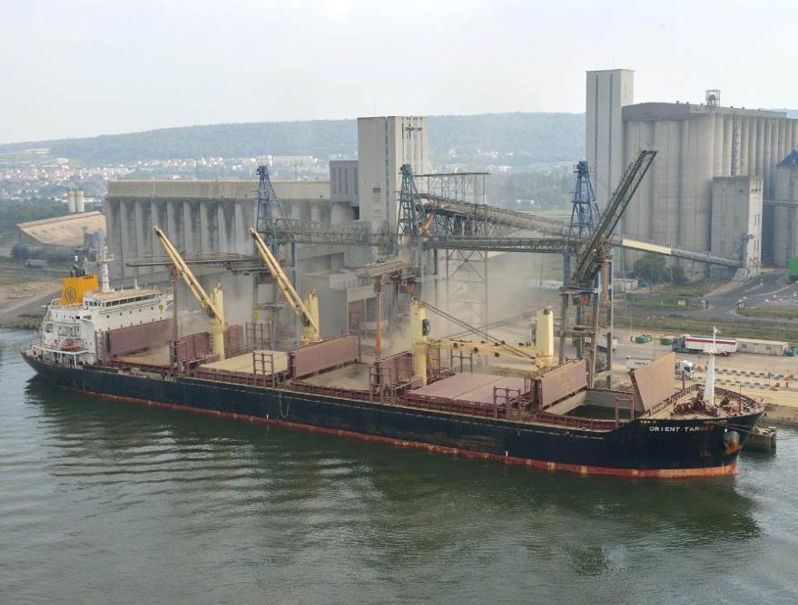 Sharp decline in grain exports from Rouen