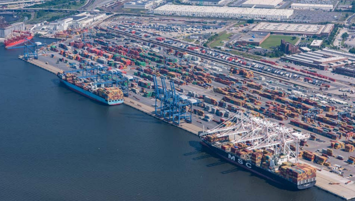The Seagirt terminal operated by Ports America Chesapeake.