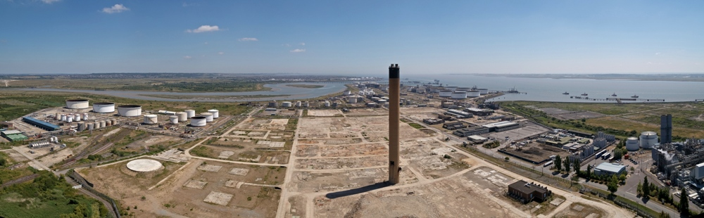 Thames Enterprise Park panorama. The vast site is adjacent to London Gateway