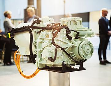 A Volvo Penta electric driveline