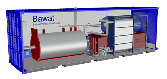BAWAT's mobile BWMS in a container is a port-based option.