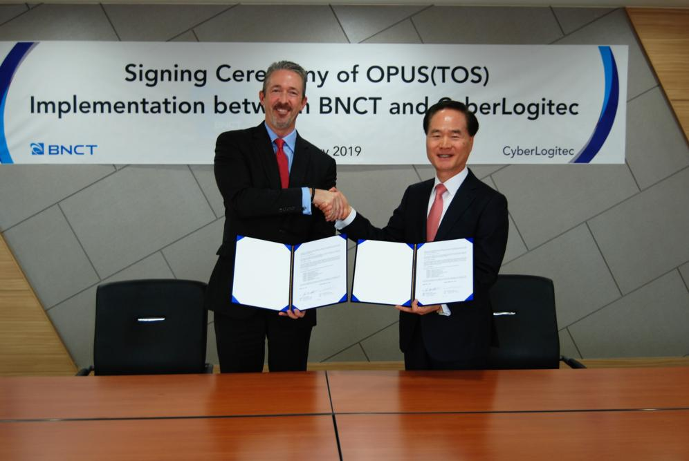 From left: John M. Elliott, President and CEO BNCT Co., Ltd and Jang-Rim Choi, CEO CyberLogitec