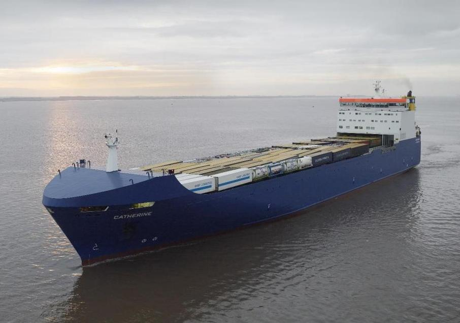 CATHERINE is being redeployed from CLdN's Zeebrugge-Dublin service