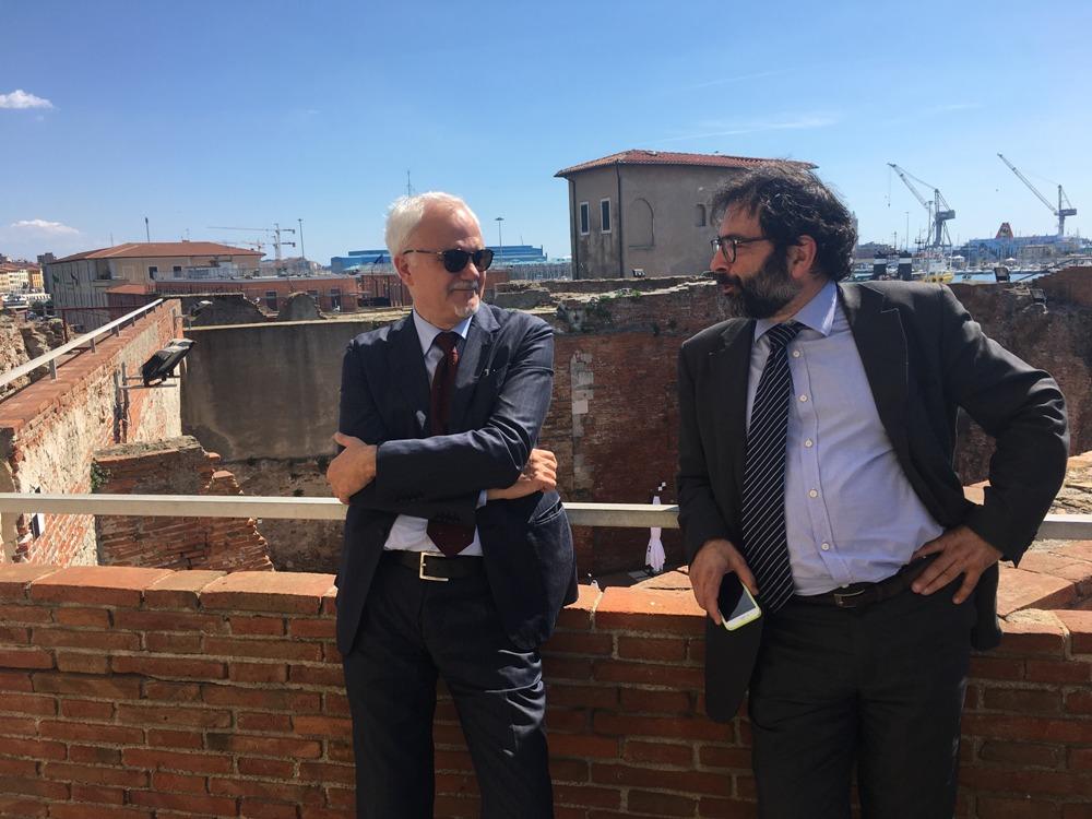 Stefano Corsini (L) and Massimo Provinciali
