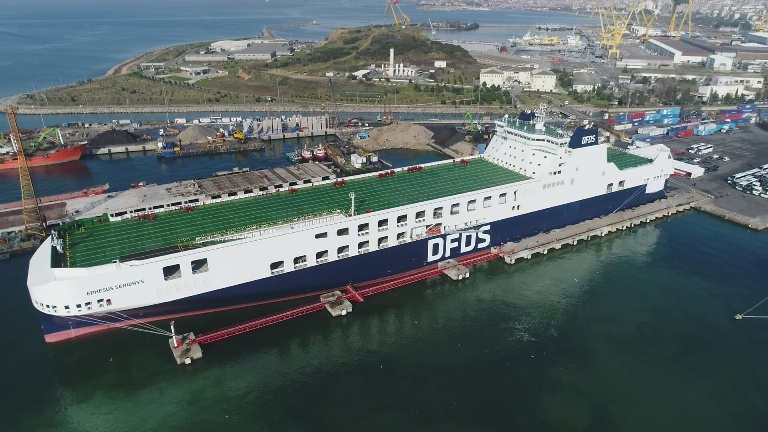 DFDS introduces new ferry on its Turkey-Trieste route